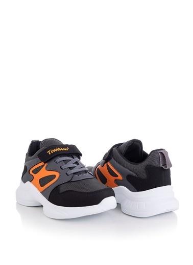 Tonny Black Siyah Turuncu Çocuk Spor Ayakkabı Tbk08 Siyah